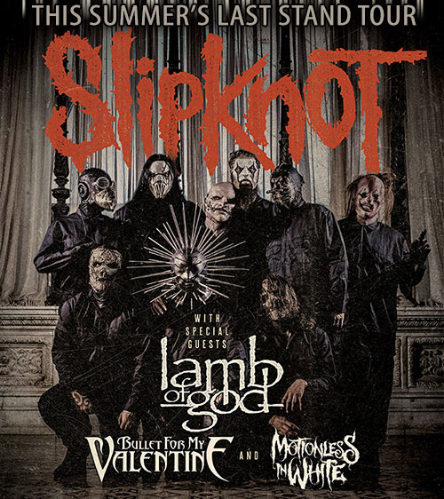 Slipknot Confirm Lamb Of God, Bullet for My Valentine As Support For Summer Tour