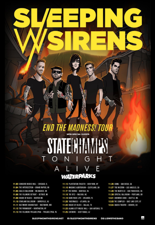 Sleeping With Sirens Announce End The Madness! Tour