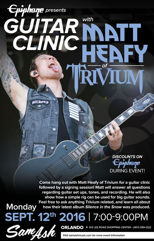 Matt Heafy Guitar Clinic